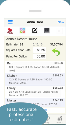 Painting contractor estimates on the app store