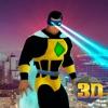Flying Eye Laser Hero City Sim