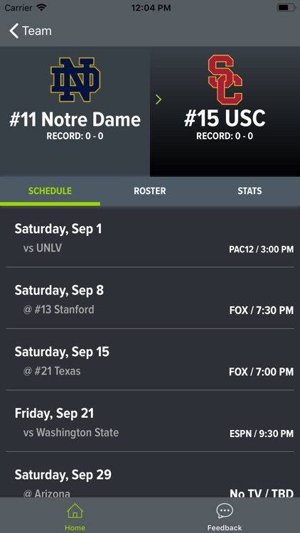 Notre Dame Football screenshot-8