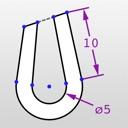 icone Uptirage - créer des dessins CAO en 2D