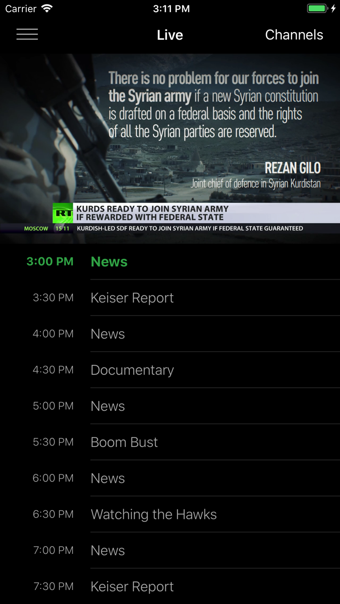RT News (Russia Today) Screenshot