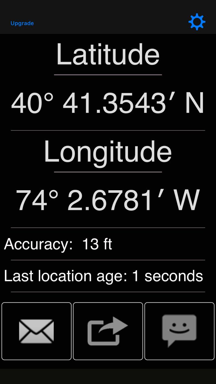 My GPS Coordinates Screenshot