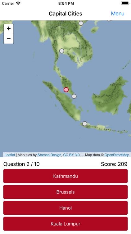 Map Challenge: Towns & Cities screenshot-3