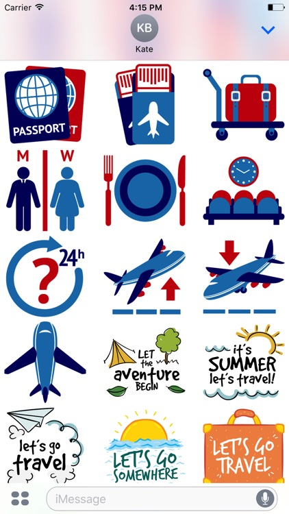 Let's go Travel - Sticker Pack for iMessage