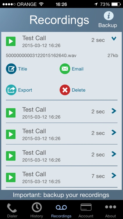 Call Recorder - IntCall screenshot-3