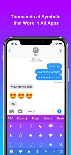 Cool Symbols Keyboard Fonts On The App Store