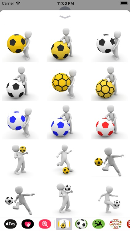 Human and Football Stickers