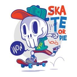 Animated Skeleton Stickers