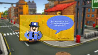 Blocky Taxi Drive Simulator 3Dのスクリーンショット3