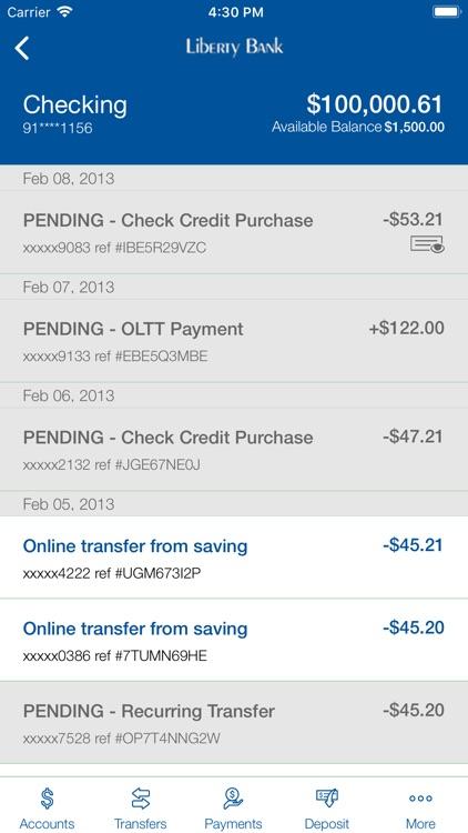 Liberty Bank Mobile Banking screenshot-3
