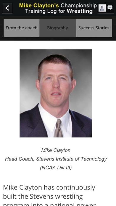 Mike Clayton's Training Log Screenshot