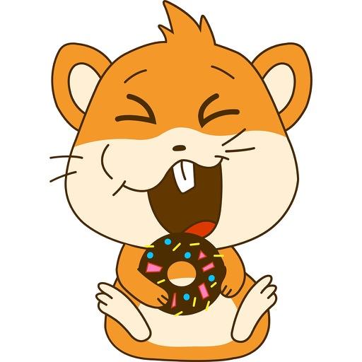 Animated Cute Chubby Hamster