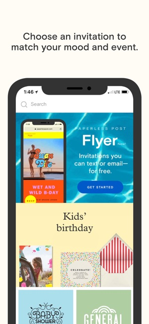 Paperless post on the app store screenshots filmwisefo