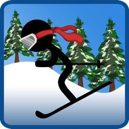 Stick-Man Pocket Hero Ski-er Game