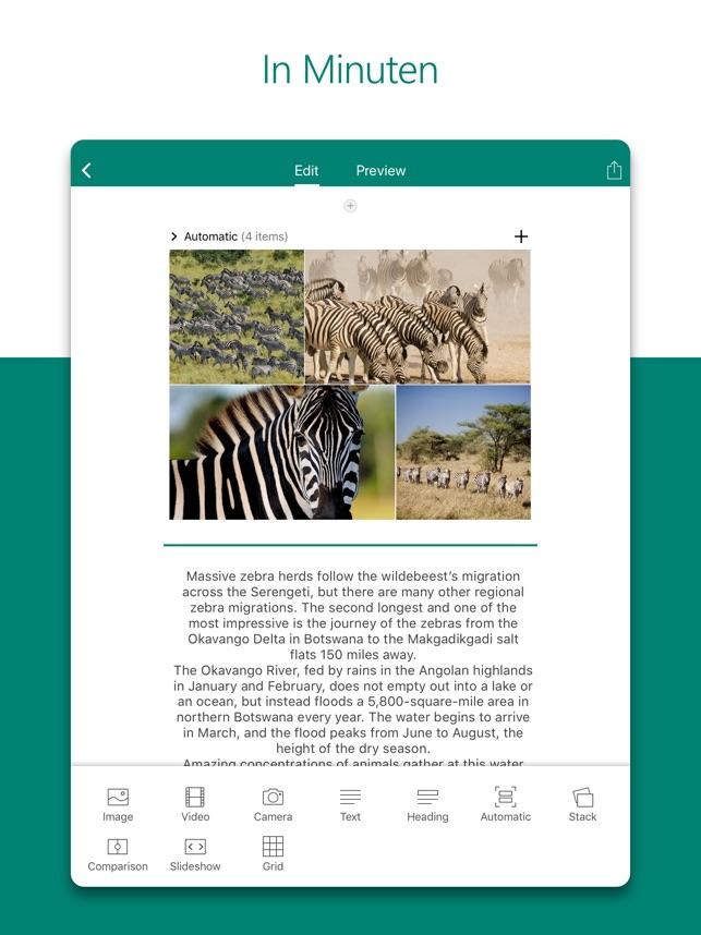 Microsoft Sway Screenshot