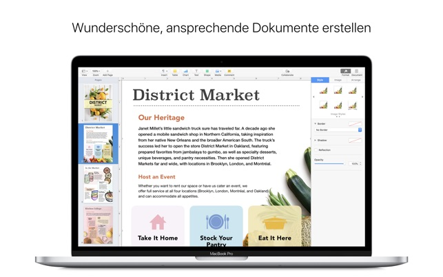 Pages im Mac App Store
