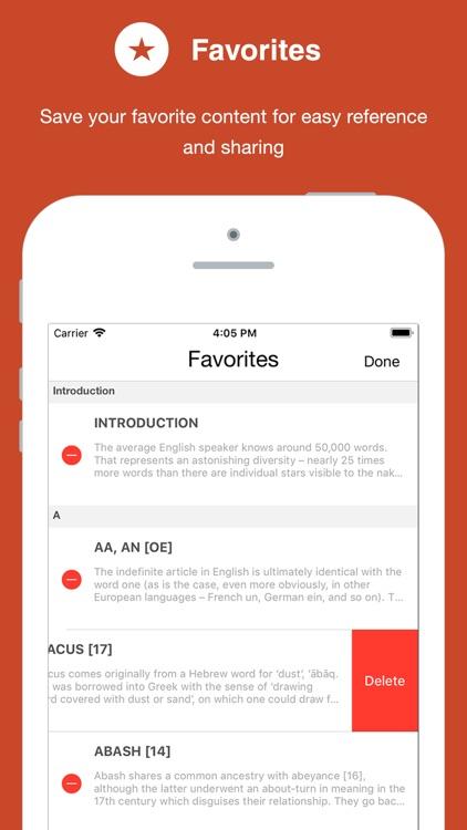 Dictionary of Word Origins screenshot-4