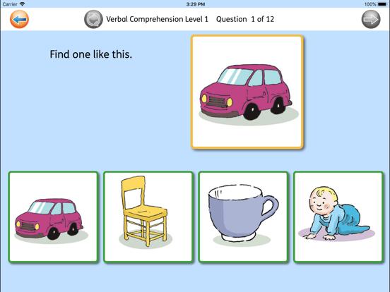 Verbal Comprehension screenshot one