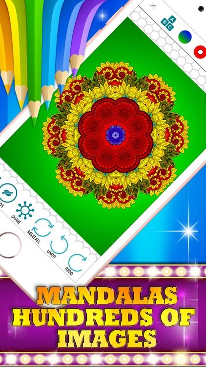 Colorizo Adult Coloring Book Mandala COLOR Therapy