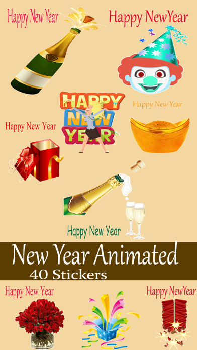 New year Animated Sticker 2018 screenshot one