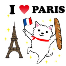 Westie Dog in Paris Sticker