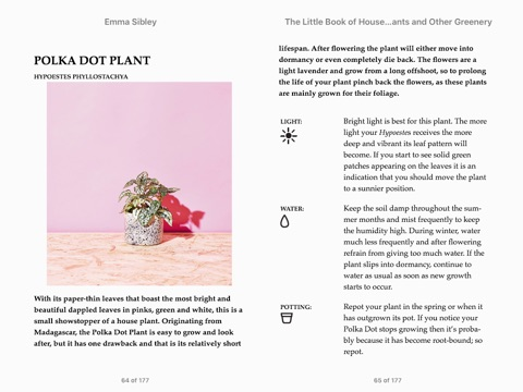 The Little Book Of House Plants And Other Greenery By Emma Sibley On