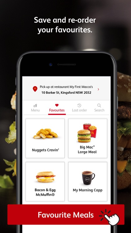 mymacca's Mobile Ordering