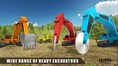 Heavy Excavator Rock Mining 3D
