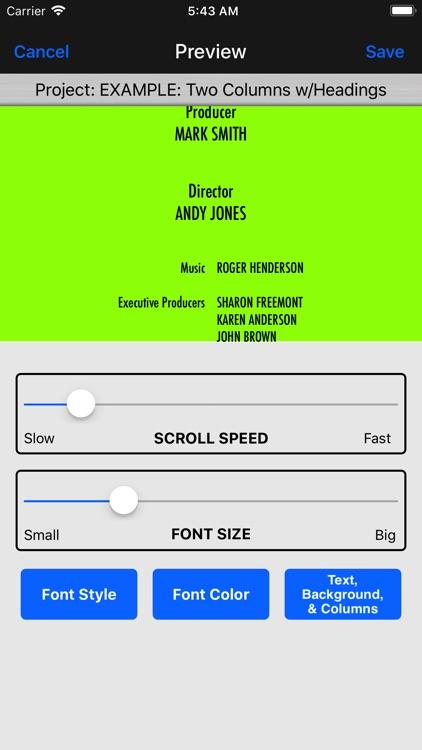Scrolling Credits Pro screenshot-5