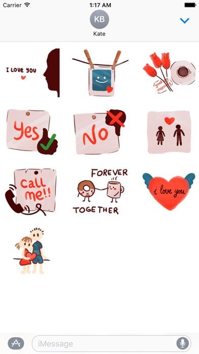 Love Messages Lovemoji Sticker screenshot 3