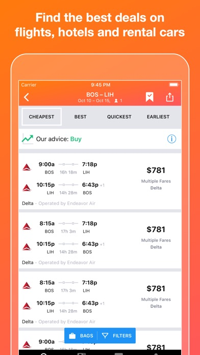 KAYAK Flights, Hotels & Cars for Windows