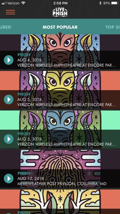 Livephish review screenshots