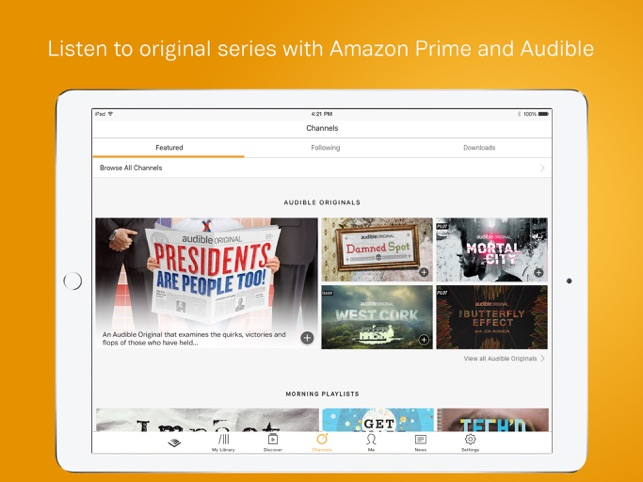 Audible audio books podcasts on the app store fandeluxe Images