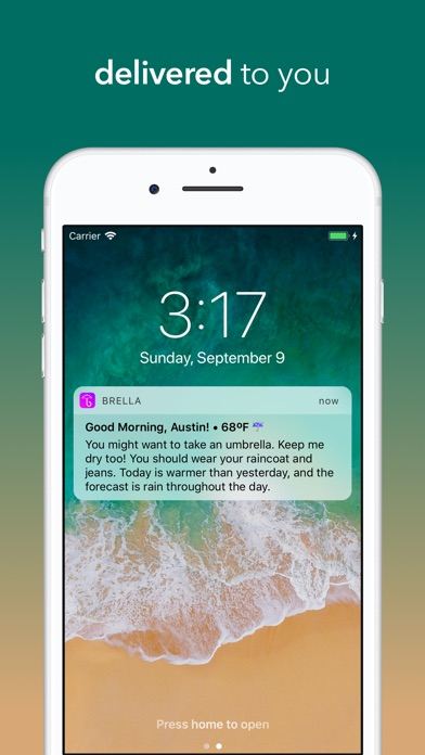Screenshot for Brella - Personal Weather in United States App Store