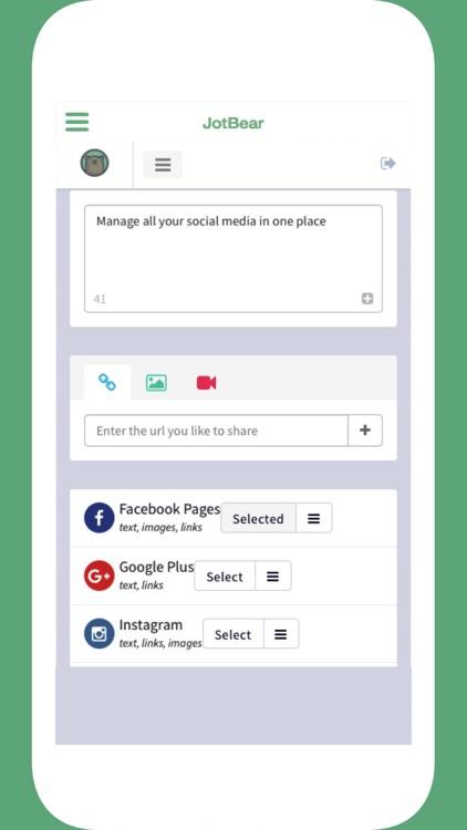 JotBear: Schedule Social Posts screenshot-4