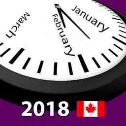 2018 Canada Calendar