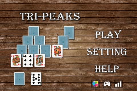 Screenshot of Solitaire Tri-Peaks Go