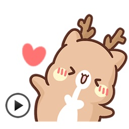 Animated Cute Reindeer Sticker