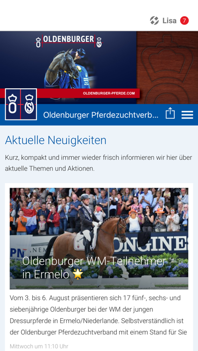 Oldenburger Pferdezuchtverband screenshot 1