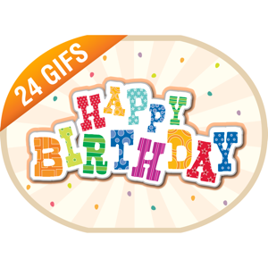 Happy Birthday iSticker app