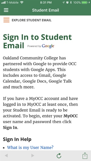 Occ Royal Oak Campus Map.Occ Connect On The App Store
