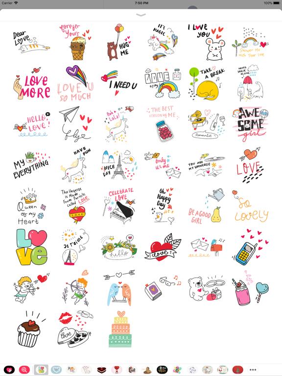 Doodle Valentine's Day Sticker screenshot 5