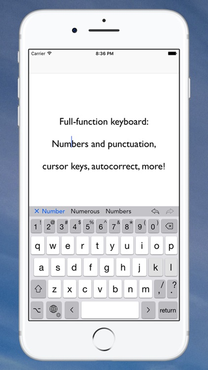 PadKeys - Number Row Keyboard