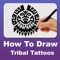 How to Tribal Tattoo Step by step