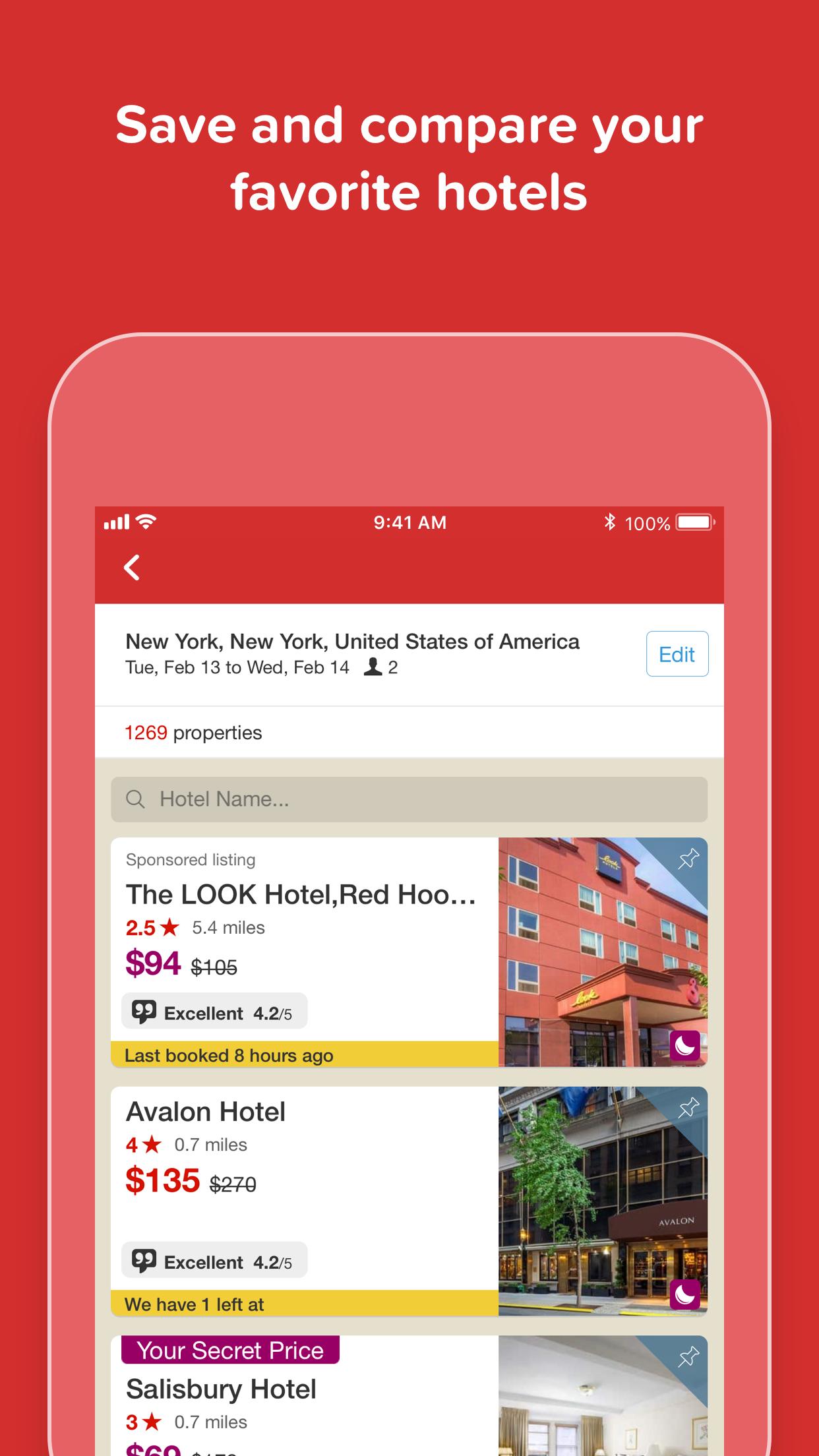 Hotels.com - Hotel booking Screenshot