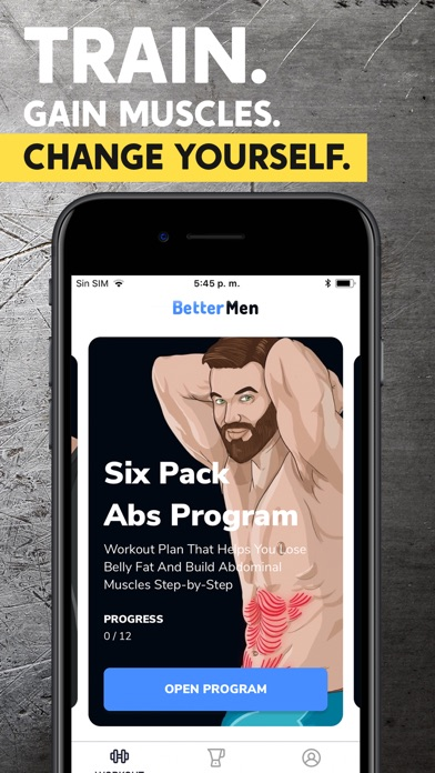 BetterMen: Workout Trainer Screenshot 1