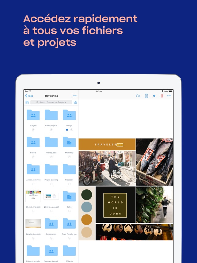 Dropbox Capture d'écran