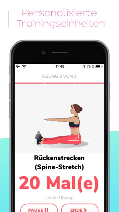 Screenshot for BetterMe: Trainingseinheiten in Switzerland App Store