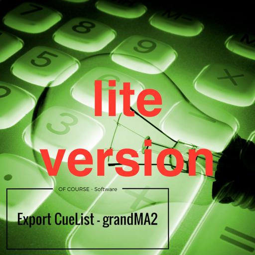 Export CueList - gma2 (lite)