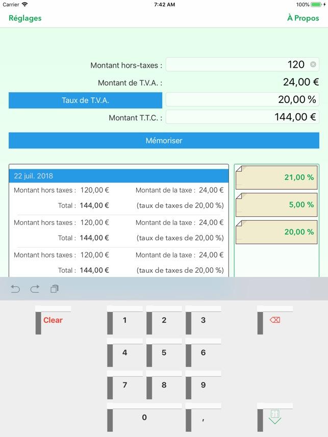 Calculatrice Tva Dans L App Store